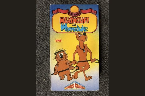A Heathcliff and Marmaduke VHS tape