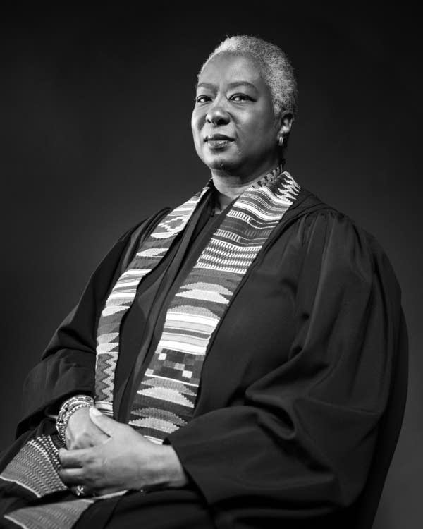 Retired Judge Pamela Alexander sits for a portrait.