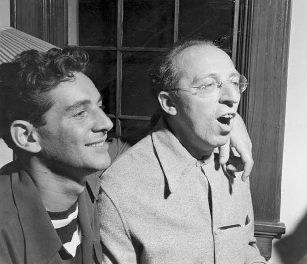Leonard Bernstein with Aaron Copland