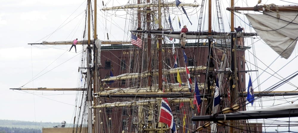 High in the rigging