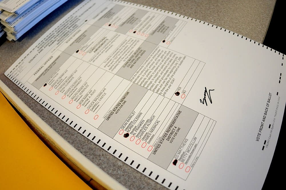 A challenged ballot in Ramsey County
