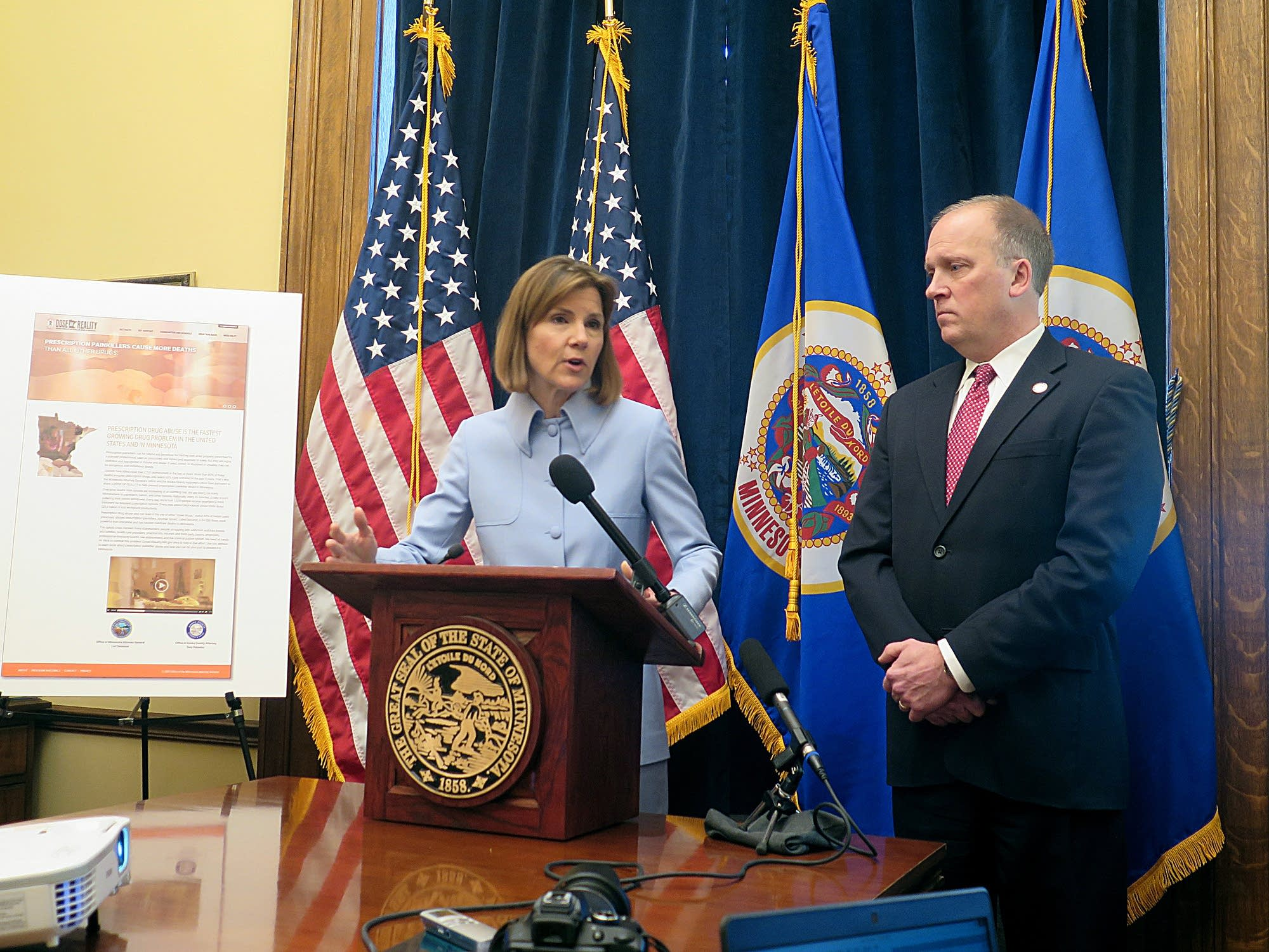 Minnesota AG Lori Swanson and Wisconsin AG Brad Schime