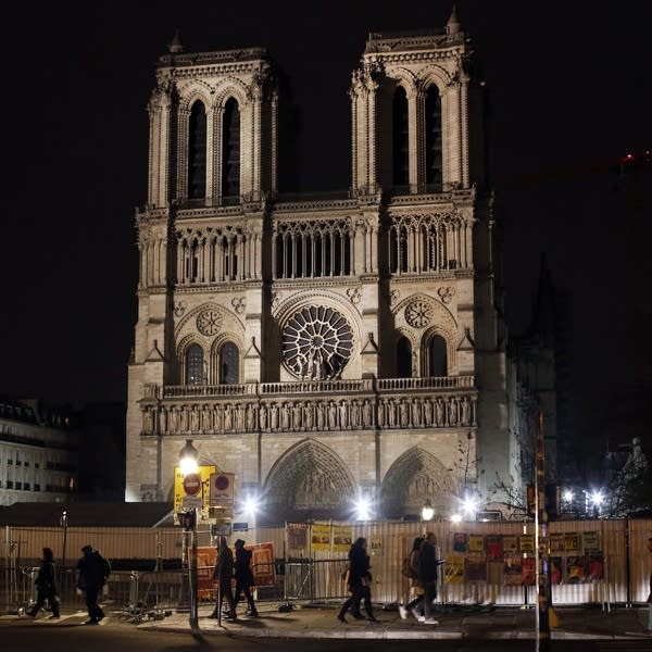 Fire-damaged Notre Dame Cathedral
