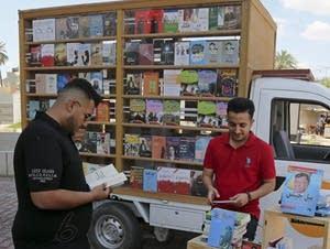 Ali al-Moussawi's mobile book truck