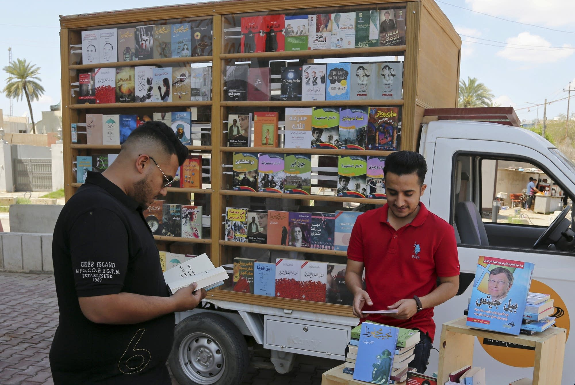 Ali al-Moussawi's mobile book truck