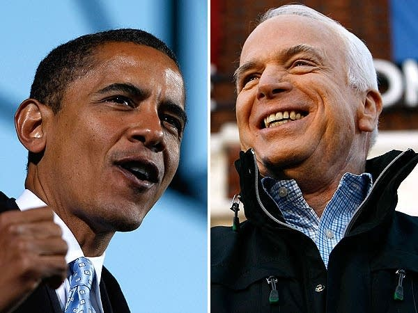 Barack Obama and John McCain in the final days