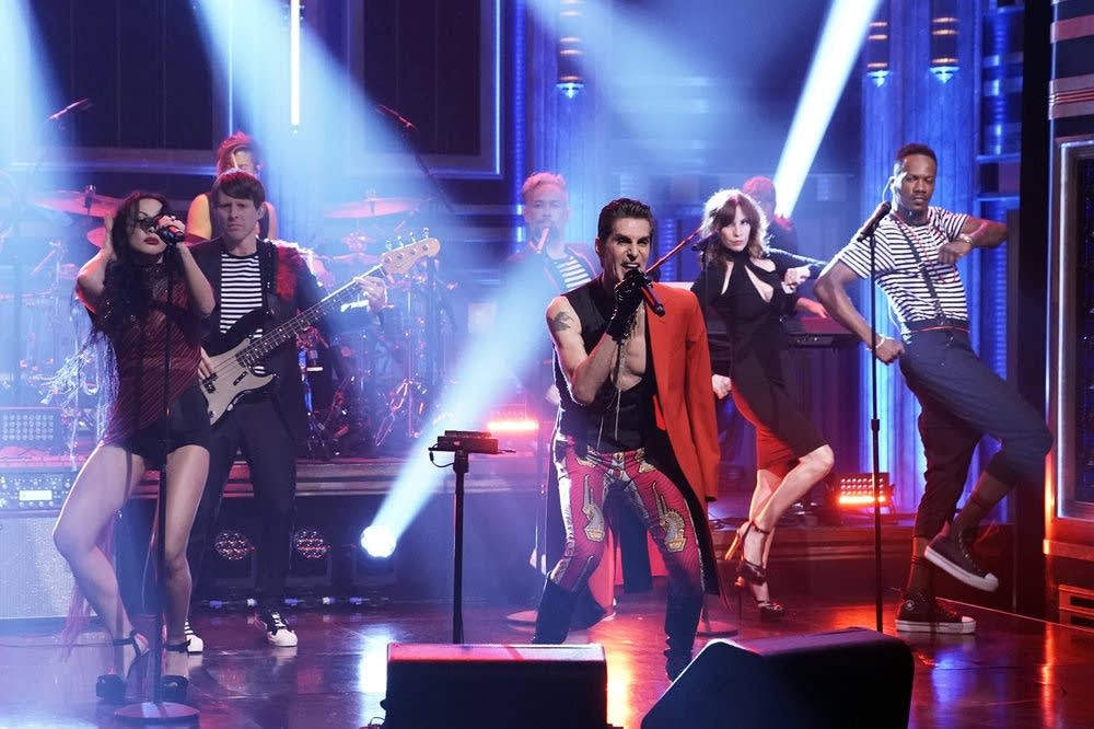 Perry Farrell performs on 'The Tonight Show Starring Jimmy Fallon'
