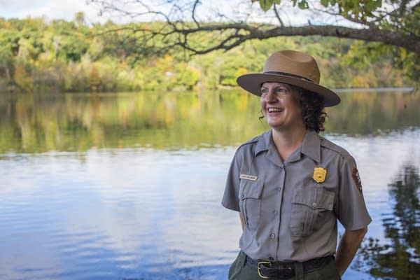 Julie Galonska on the St. Croix River