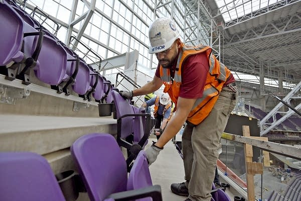 Installing seats in section 349