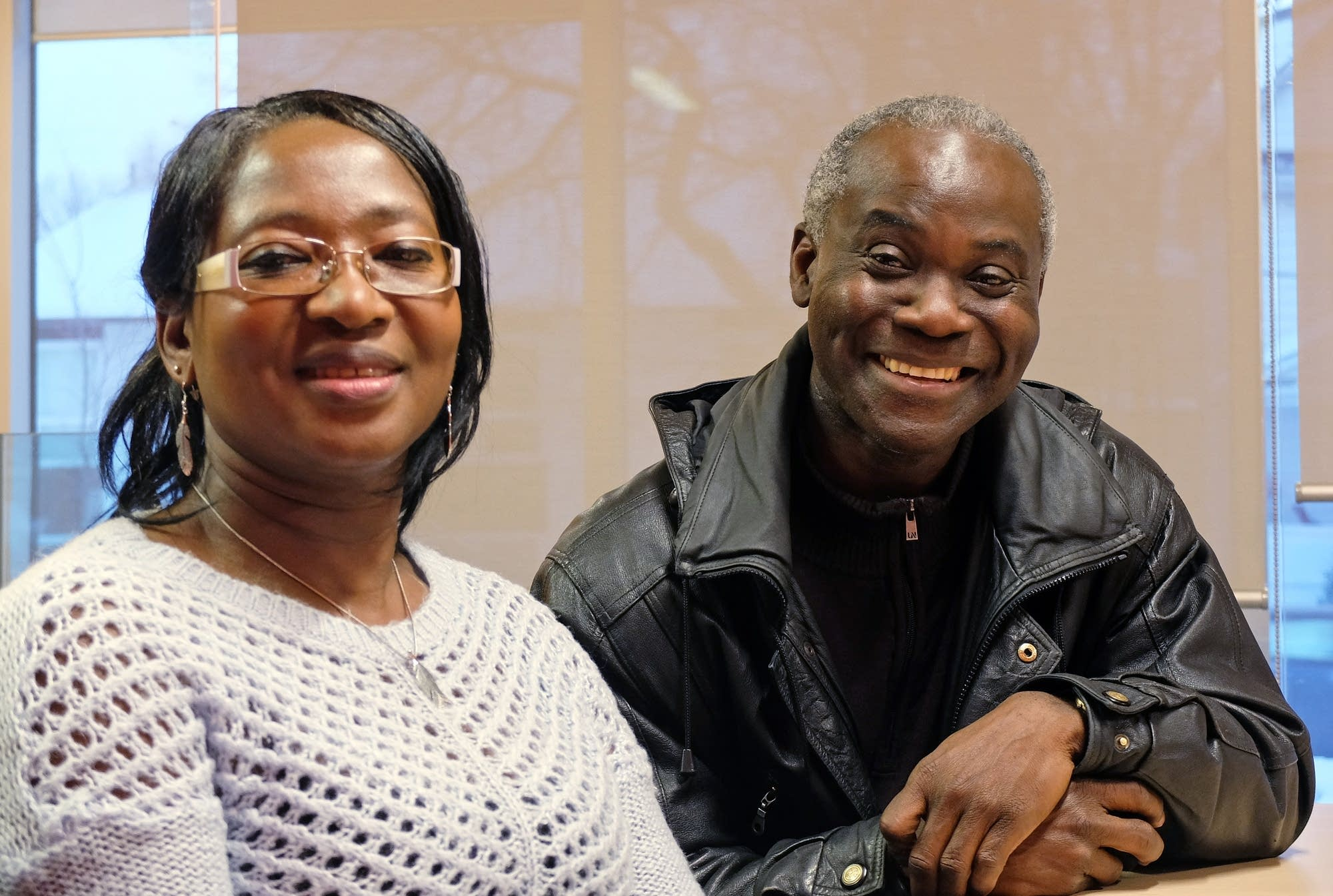 Maggie Yaboah and Frank Indome of the Ghanaian Union of Manitoba