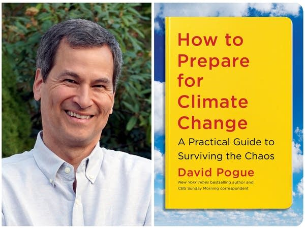 An artist photo and book cover for David Pogue.