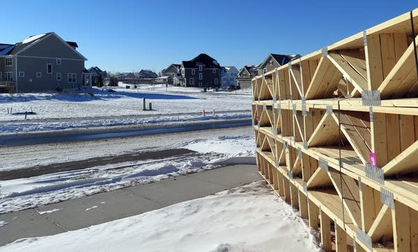 Roof trusses wait for the next project.
