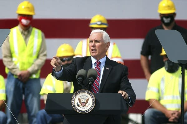 Vice President Mike Pence speaks during a campaign event