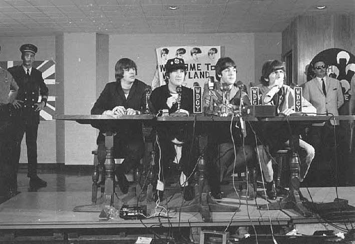 Image result for beatles 1965 us press conference