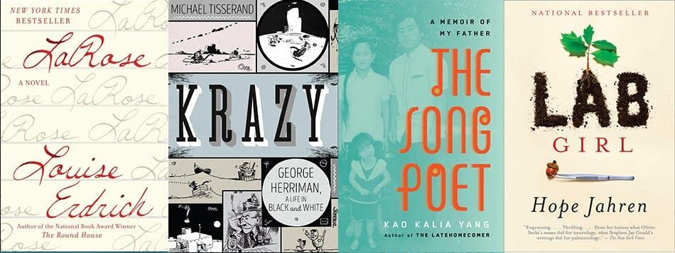 Minnesota finalists for the National Book Critics Circle Awards