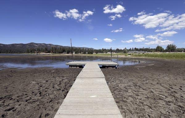 Dried Big Bear Lake