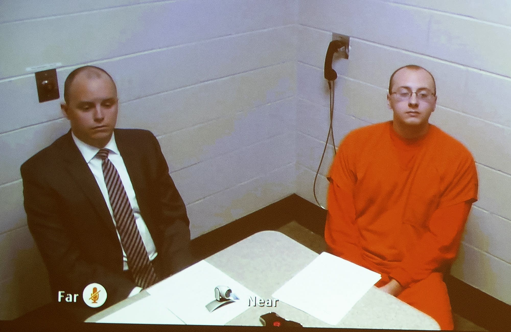 Jake Thomas Patterson makes his first court appearance on video.
