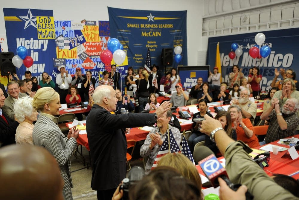John McCain makes an Election Day campaign stop