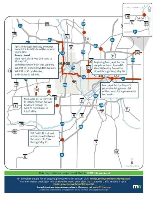Slow ride Here 39 s MnDOT 39 s newest map of Twin Cities traffic woes Mi