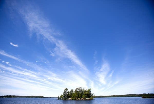 Island in Lake Vermilion