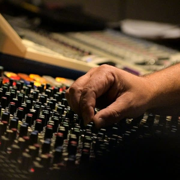 Michael DeMark mixes a session