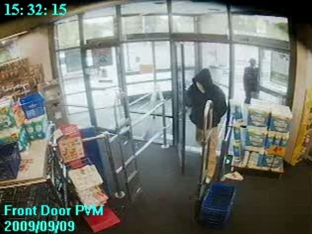 Surveillance video screen capture