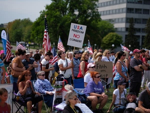 Rally against vaccine mandates at the State Capitol