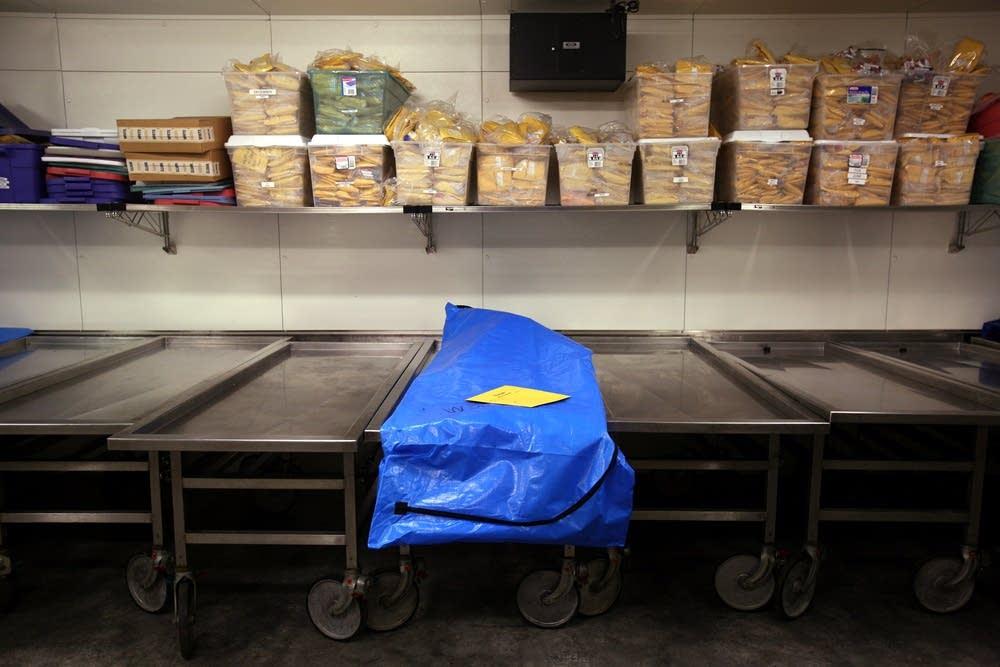 Autopsy freezer storage