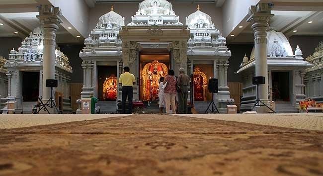 Praying before Vishnu