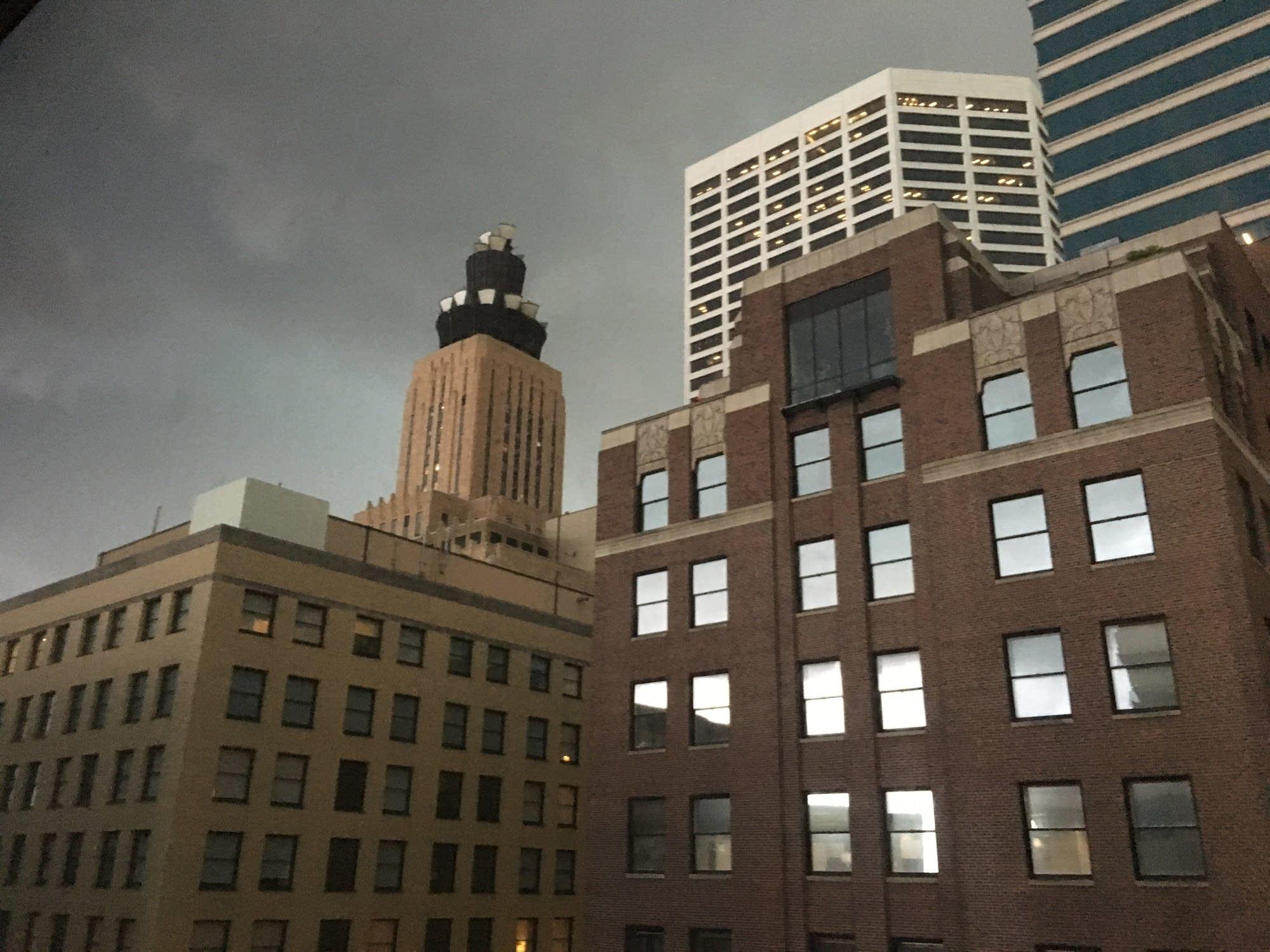 Stormy skies seen in Minneapolis last year.