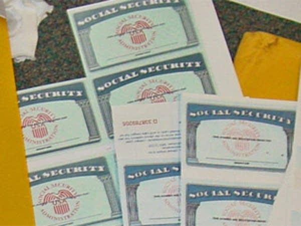Blank Social Security cards