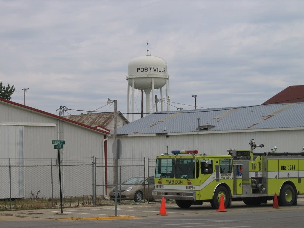 Postville's water tower