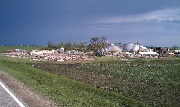Damaged farm
