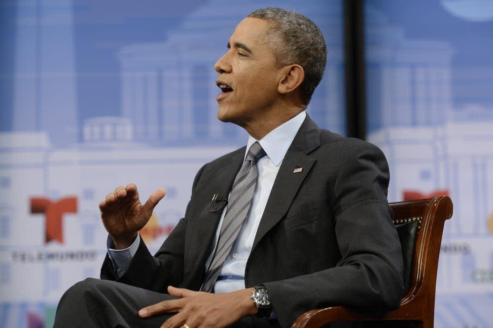 US President Barack Obama Participates In Town Hal