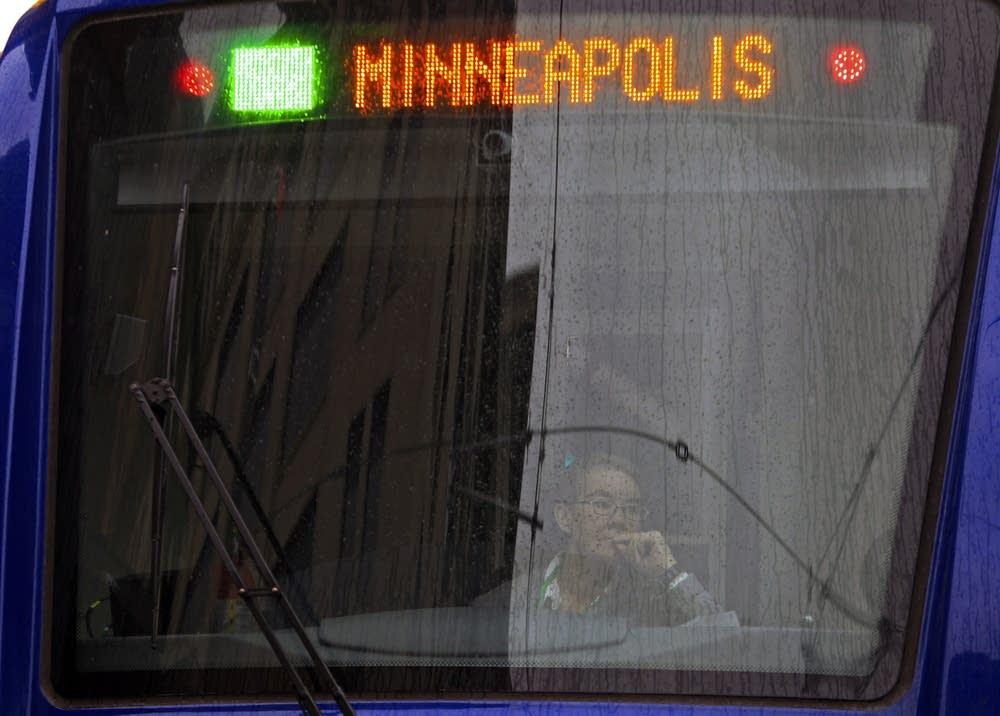 Green line train headed for Minneapolis