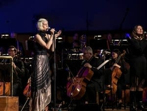 Dessa perfoms with the Minnesota Orchestra