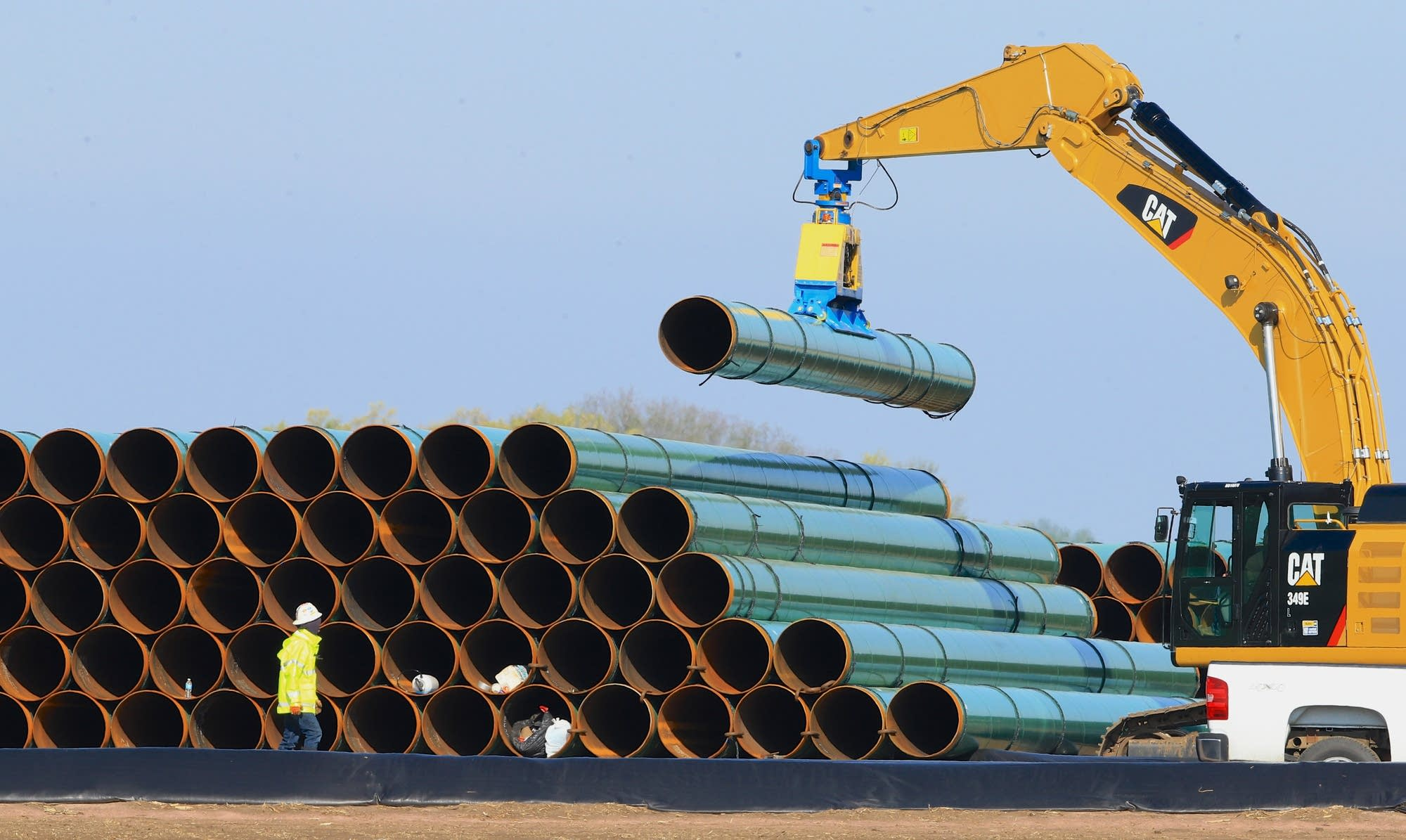 Pipes for Dakota Access pipeline