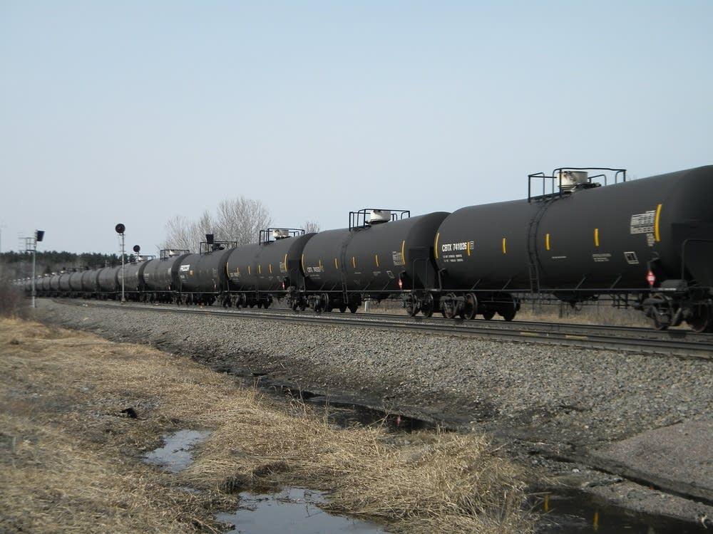BNSF oil-tank train