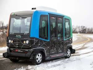 MnDOT demonstrated an autonomous shuttle in Monticello, Minn.