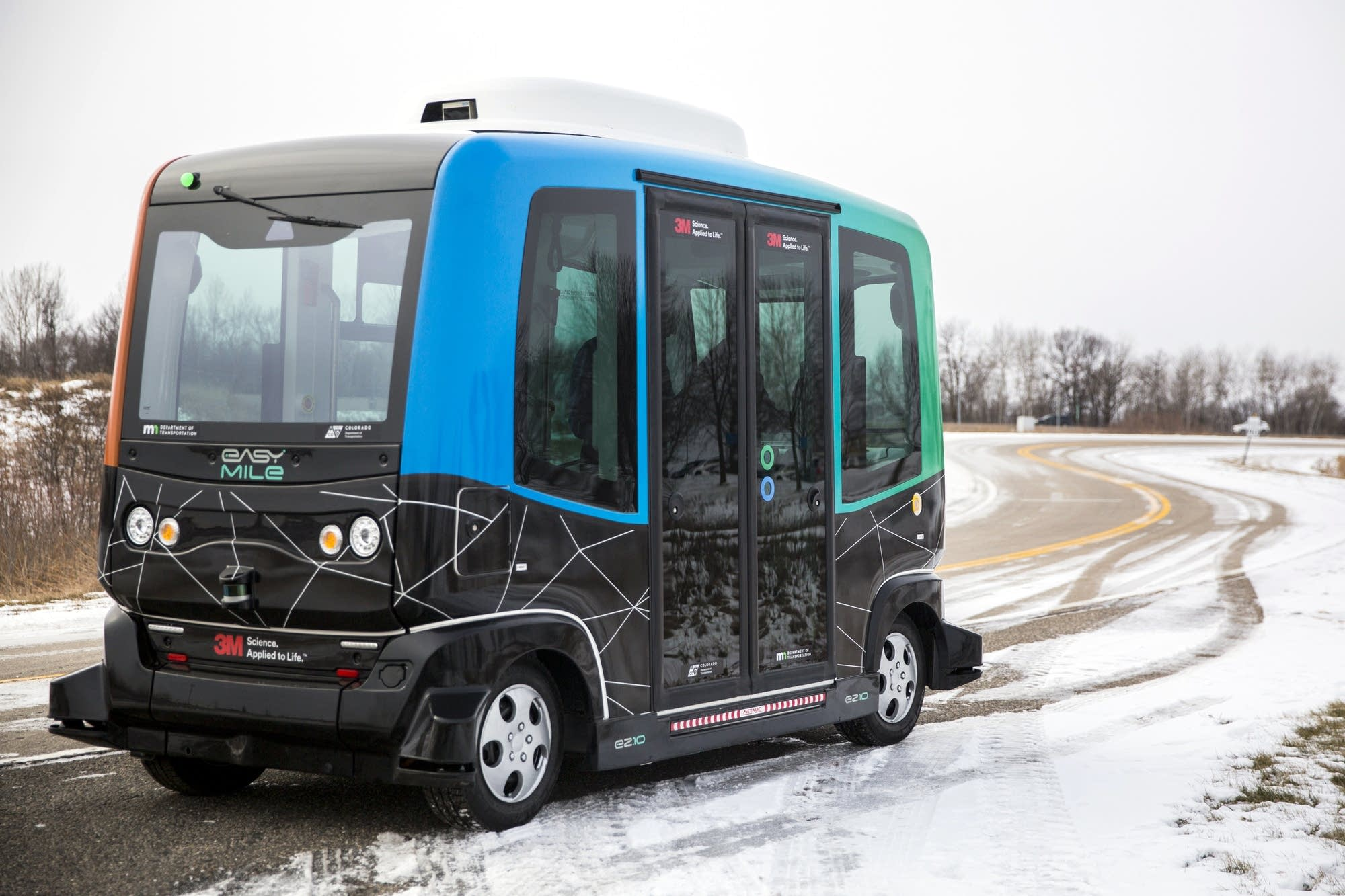 MnDOT demonstrated an autonomous shuttle in Monticello.