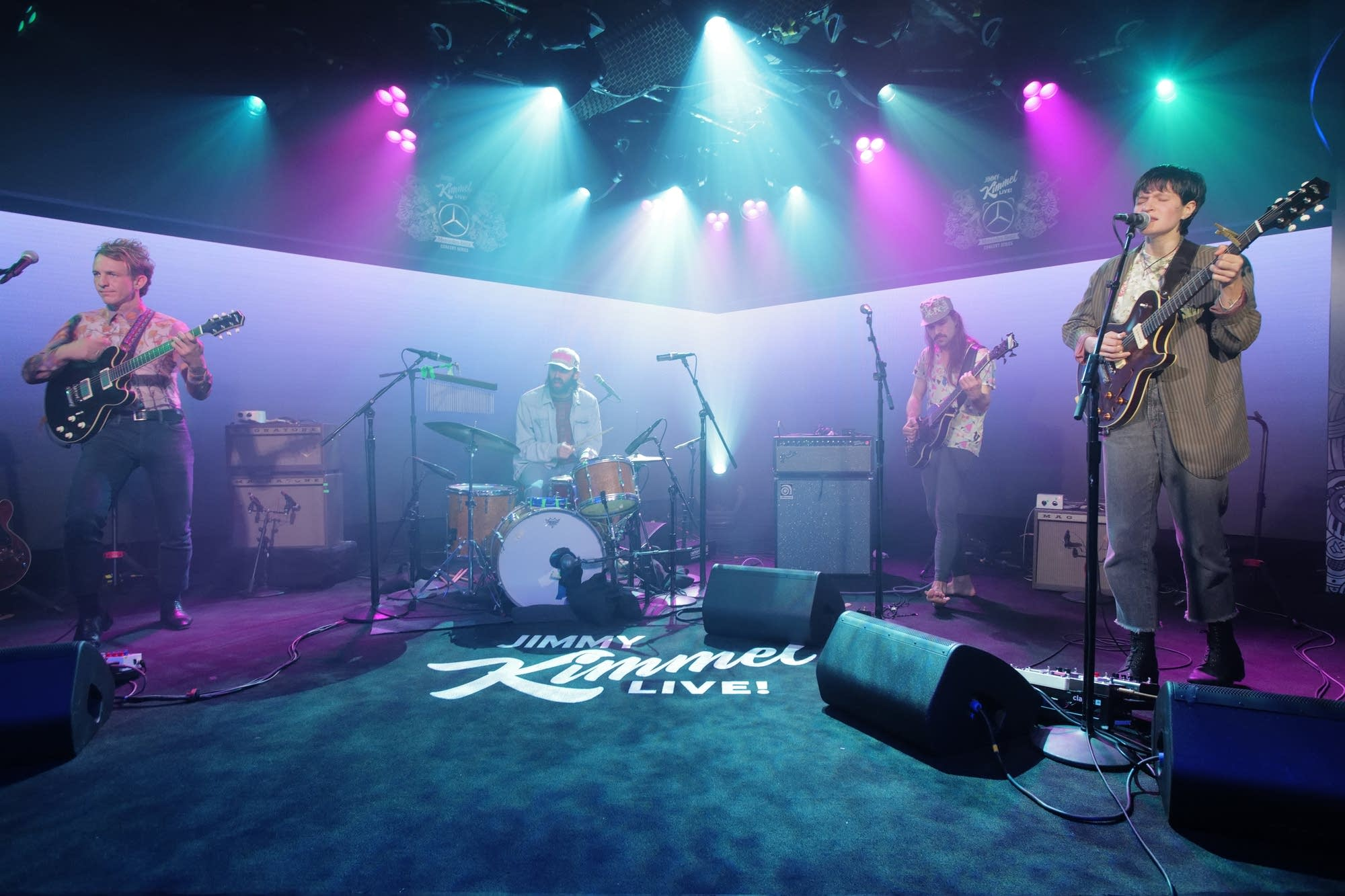Big Thief performing on 'Jimmy Kimmel Live' on ABC