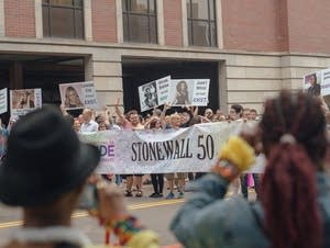This year's Twin Cities Pride parade honored the Stonewall uprising.