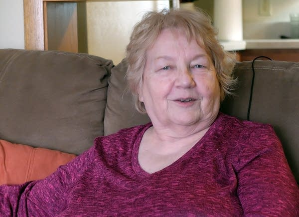 Betty Hanson in her Detroit Lakes apartment.