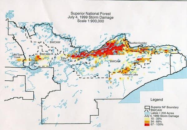 Map: Blowdown damage