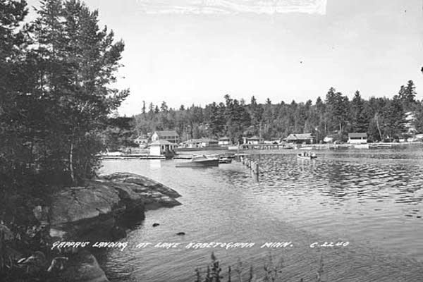 Gappa's Landing at Lake Kabetogama, circa 1950.