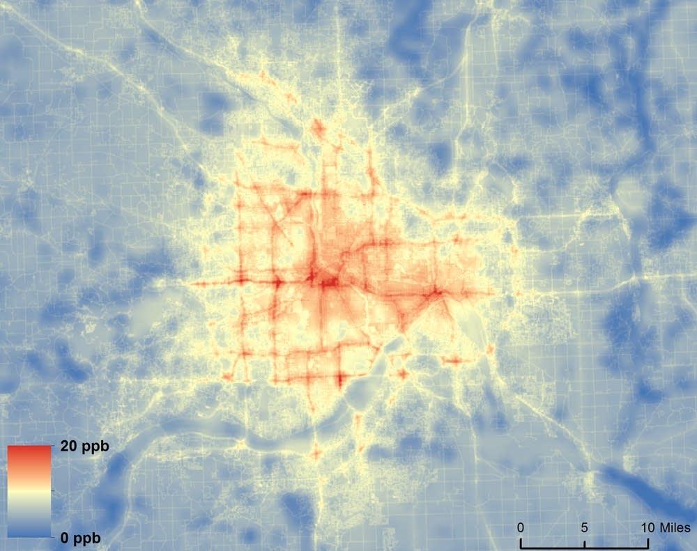 Nitrogen dioxide pollution