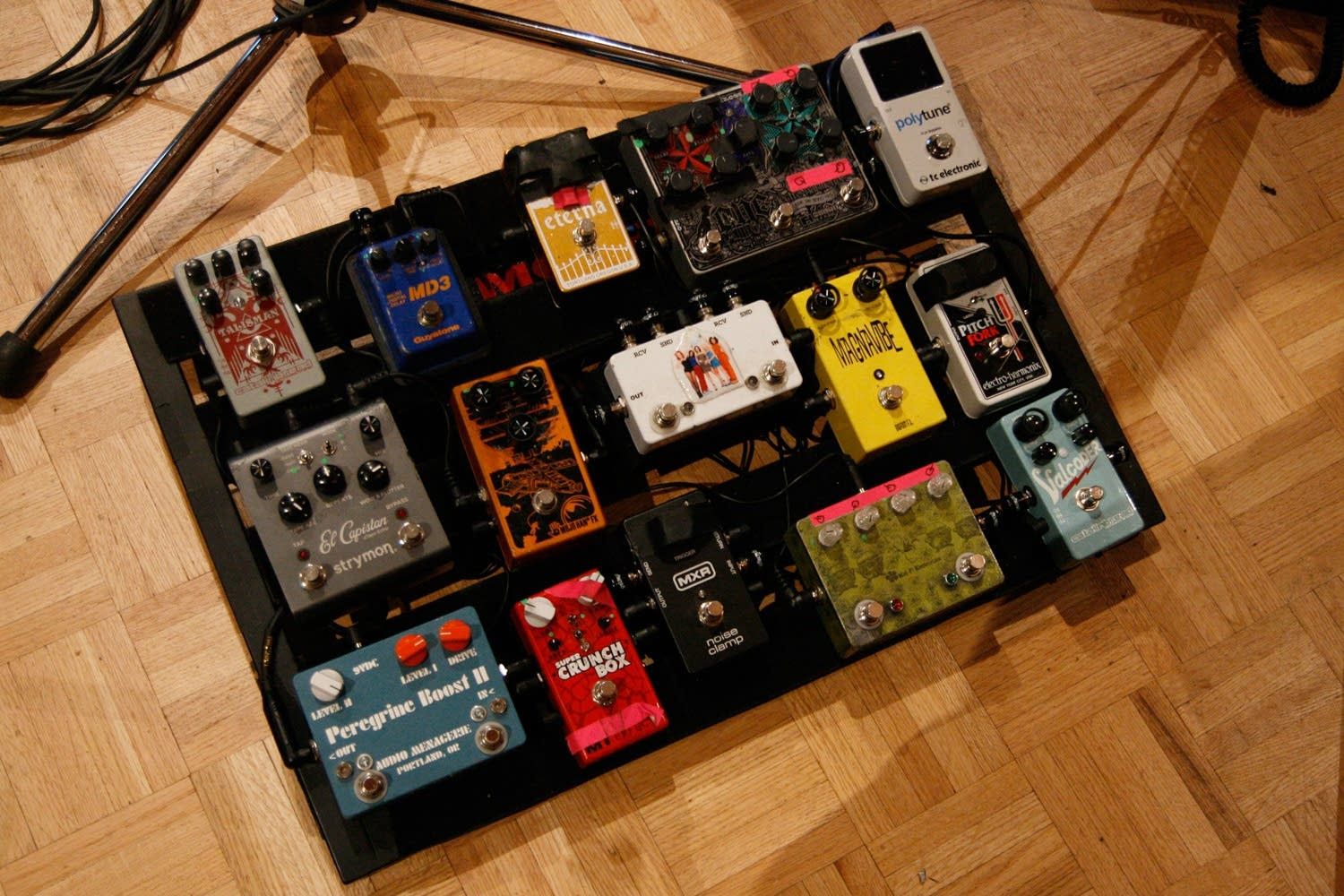 Bobb Bruno's effects board