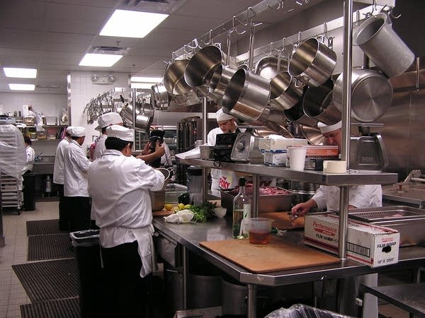 The Cue staff prepares meals for up to 850 diners.