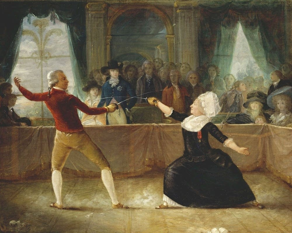 Fencing match, Chevalier de Saint-Georges