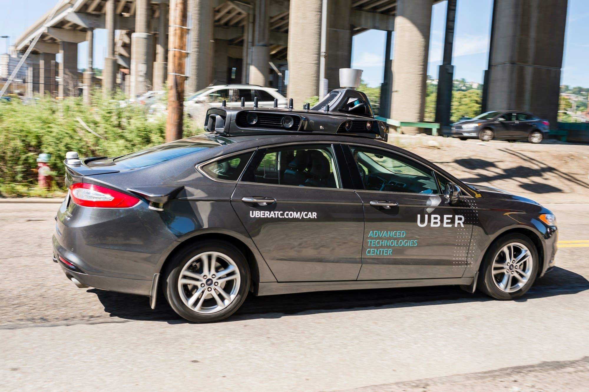 A pilot model of an Uber self-driving car